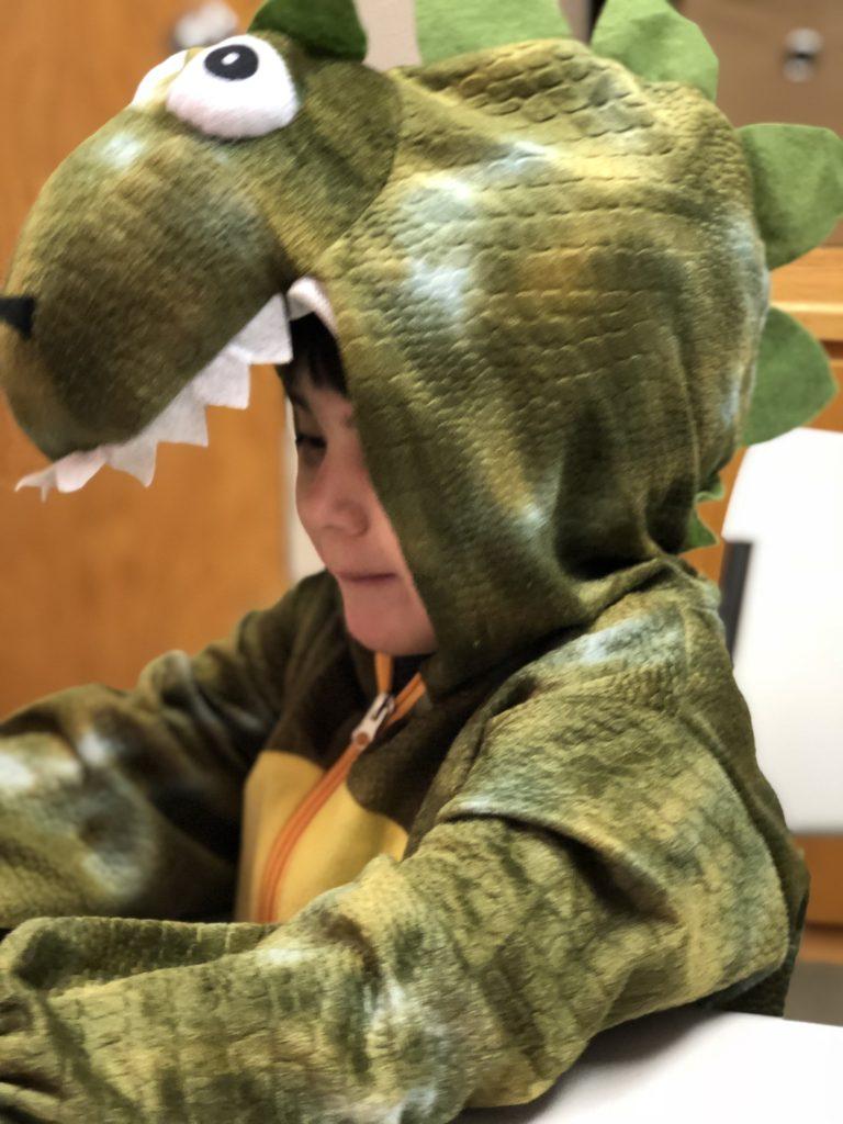 child dinsaur